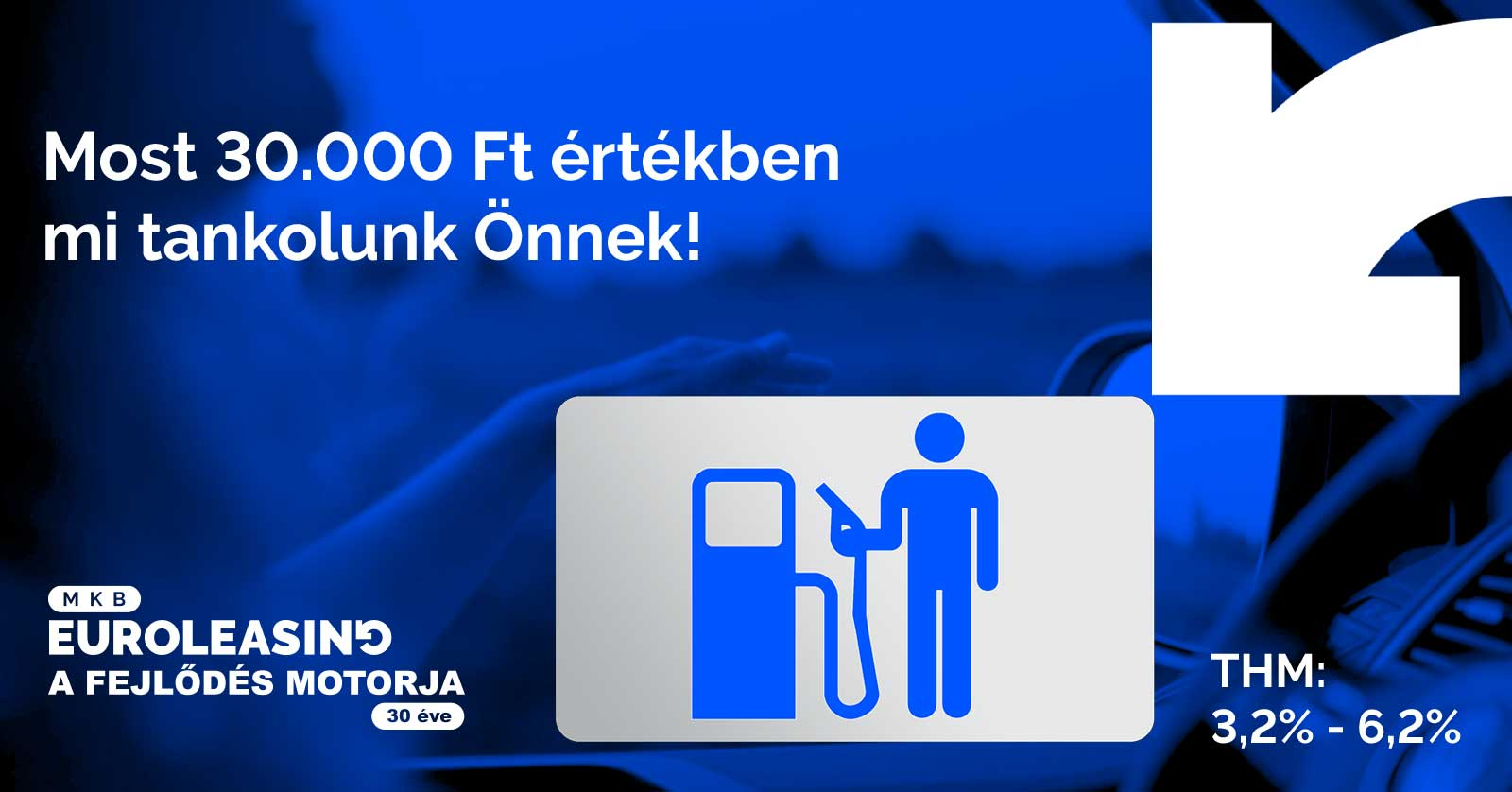 Minden az akcióban résztvevő ügyfél egy 30.000 Ft-os MOL üzemanyagkártyát kap ajándékba!